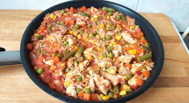 zöldséges rizses csirkemell
