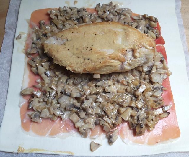 wellington csirkemell összeállítása