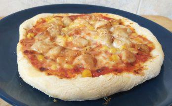 kukoricás csirkés pizza