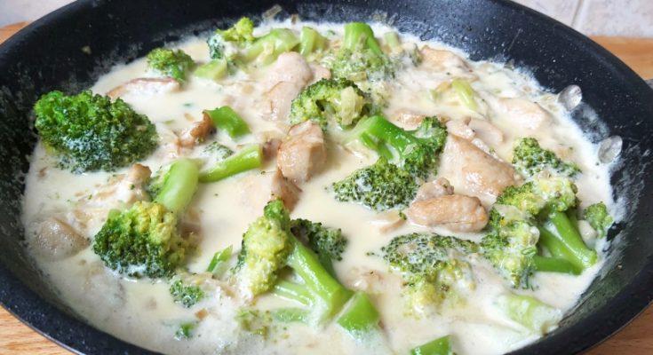tejszínes brokkolis csirkemell