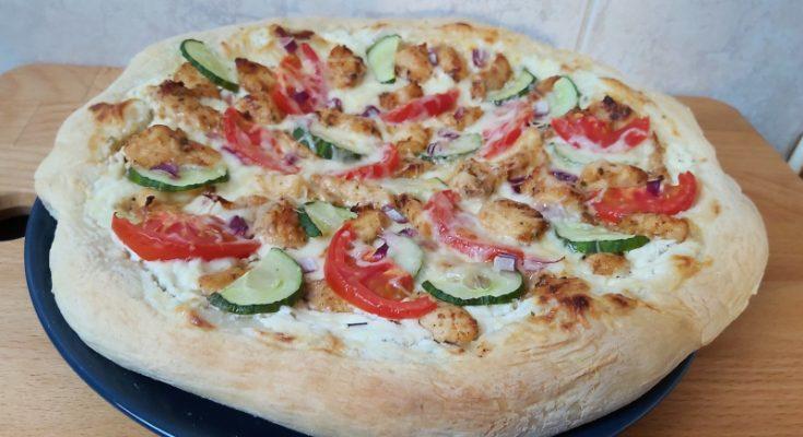 házi gyrosos pizza recept