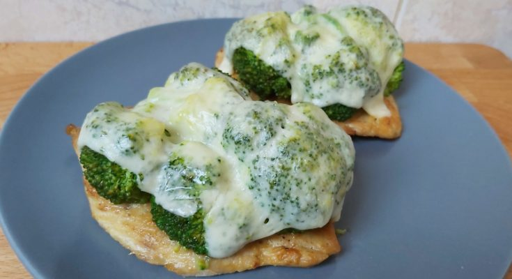 sajtos brokkolis csirkemell