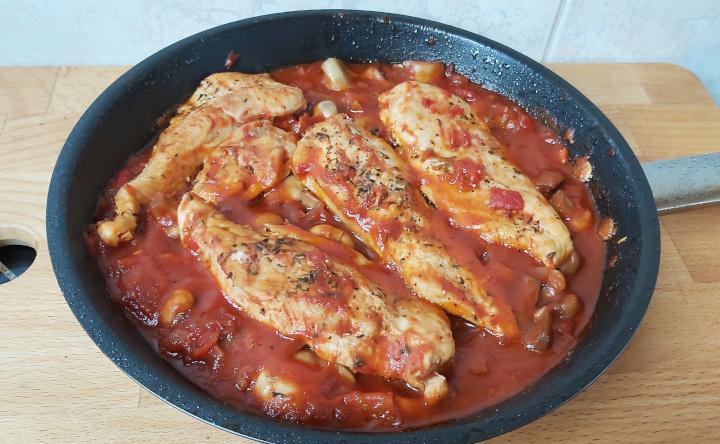 marengói csirke serpenyőben